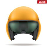 Aaircraft marshall helmet. Vector. Military Orange Aaircraft marshall helmet. Help of steward. Vector illustration isolated on white background Royalty Free Stock Image
