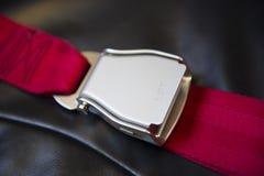 Aairliner säkerhetsbälte Fotografering för Bildbyråer