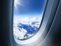 AAirplane okno Zdjęcie Stock