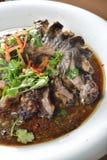 Aal-Fische und Nudel Stockfoto