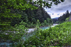 Aal-Fluss-Wasserscheide Lizenzfreies Stockfoto