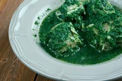 Aal im Grün Stockfoto