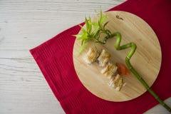 Aal maki mit Bambus Stockbild