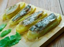 Aal mit Ofenkartoffeln Lizenzfreie Stockfotografie