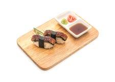 Aal nigiri Sushi - japanische Lebensmittelart Lizenzfreie Stockfotografie