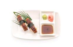 Aal nigiri Sushi - japanische Lebensmittelart Stockfotografie