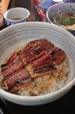 Aal Reis und Udon Stockbild