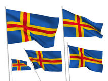 Aland islands vector flags Royalty Free Stock Images