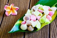 Aalaw, Alua eller tjusning, söt efterrätt Co för thailändsk traditionell godis Royaltyfri Foto