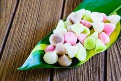 Aalaw, Alua eller tjusning, söt efterrätt Co för thailändsk traditionell godis Royaltyfri Fotografi