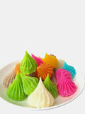 AALAW CANDY. ASWEET PASTRY MADE OF FLOUR. THE OUTER SKIN COATED WITH HARDENED SUGAR. IN A VISCOUS DOUGH SO USUALLY SMALL MULTI-COLORED SWEETLY SCENTED Stock Photography