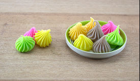 Aalaw eller Alua, söt efterrätt för thailändsk traditionell godis Arkivfoton