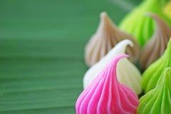 Aalaw eller Alua, söt efterrätt för thailändsk traditionell godis Arkivfoto