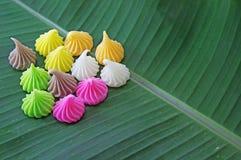 Aalaw eller Alua, söt efterrätt för thailändsk traditionell godis Royaltyfri Fotografi