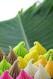 Aalaw oder Alua, thailändische traditionelle Süßigkeitssüßspeise Lizenzfreie Stockfotografie