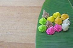 Aalaw oder Alua, thailändische traditionelle Süßigkeitssüßspeise Stockfotografie