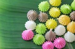 Aalaw oder Alua, thailändische traditionelle Süßigkeitssüßspeise Stockbilder