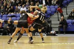 Aalborg AVW - FCM Handball Lizenzfreies Stockfoto