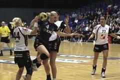Aalborg AVW - RK Krim Mercator (EHF-Meister Lizenzfreie Stockfotos