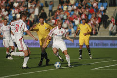 Aalborg BK - FK Slavija Sarajevo Foto de archivo libre de regalías