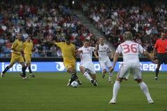 Aalborg BK - FK Slavija Sarajevo Lizenzfreie Stockfotografie