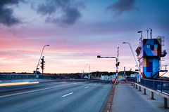Aalborg bridge, Limfjorden, Denmark Royalty Free Stock Photo