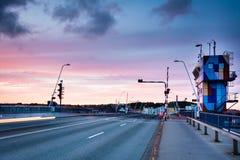 Aalborg bro, Limfjorden, Danmark Royaltyfri Foto