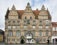 Aalborg, Denemarken, het Huis van Jens Bang's Stock Fotografie