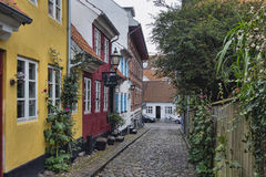 Aalborg, Denmark, narrow streets Royalty Free Stock Image