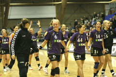 Aalborg DH - Balonmano Parc Sagunt Royalty Free Stock Image