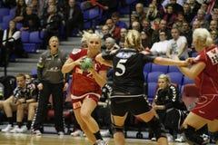 Aalborg DH - FCM-handboll Arkivbild