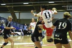 Aalborg DH - KIF Vejen. On September 19, 2009, Aalborg DH met KIF Vejen. The game ended 23-23 Royalty Free Stock Photo