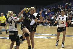 Aalborg DH - RK Krim Mercator (EHF Champions Royalty Free Stock Photos