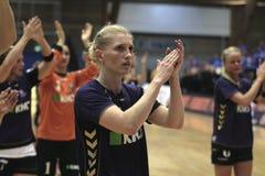 Aalborg DH - RK Krim Mercator (EHF Champions Royalty Free Stock Photo