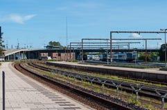 Aalborg drevstation Danmark Arkivfoton