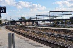 Aalborg drevstation i Danmark Arkivbild