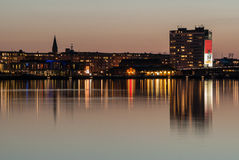 Aalborg-Hafen Stockbild