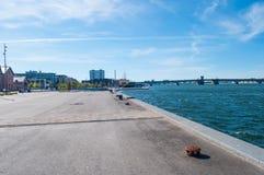 Aalborg hamn i Danmark Royaltyfri Fotografi