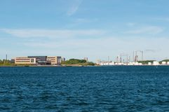 Aalborg hamn i Danmark Royaltyfri Foto