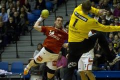 Aalborg-Handball - KIF Kolding Lizenzfreie Stockbilder