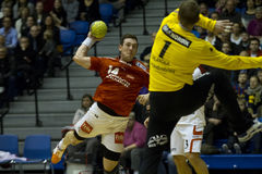 Aalborg Handball - KIF Kolding Royalty Free Stock Images