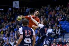Aalborg-Handball - Lemvig Thyborøn Handball Lizenzfreies Stockbild