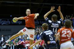Aalborg Handball - Nordsjælland Handball Stock Image