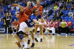 Aalborg Handball - Skive FH Royalty Free Stock Images