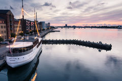 Aalborg Harbour - evening Royalty Free Stock Photography
