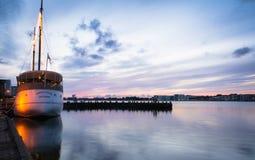 Aalborg Harbour - evening (2) Stock Image