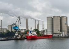 Aalborg-Portlandzementfabrik Stockfotos