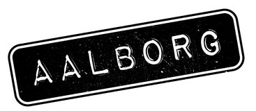 Aalborg rubber stamp. Grunge design with dust scratches. Effects can be easily removed for a clean, crisp look. Color is easily changed Stock Photo