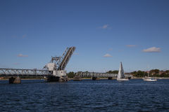 Aalborg-Zugbrücke Lizenzfreies Stockfoto