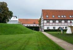 Aalborghus slott i Aalborg, Danmark Arkivbild